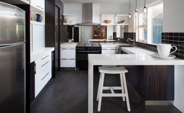Sleek and modern white kitchen renovation in Perth